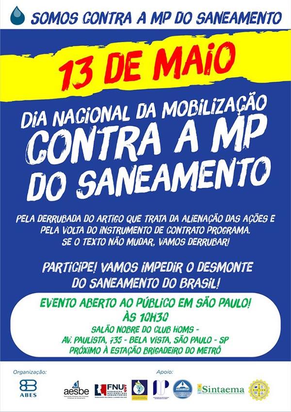 Mobilização contra a MP do Saneamento