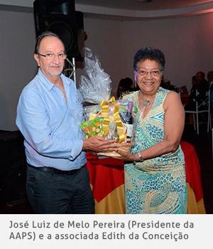 José Luiz Melo Pereira e a associada Edith da Conceição